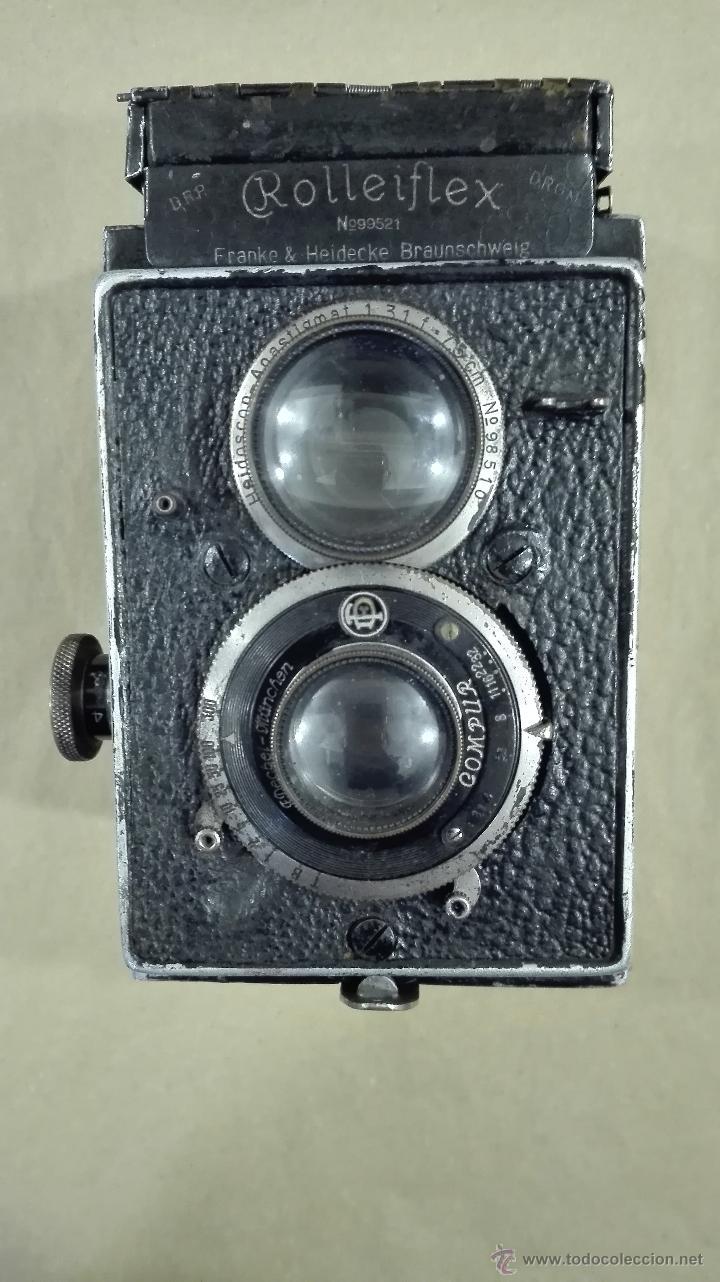 ANTIGUA CÁMARA FOTOGRÁFICA ROLLEIFLEX I CARL ZEISS F 3,8-75 (1929-32) (Cámaras Fotográficas - Antiguas (hasta 1950))