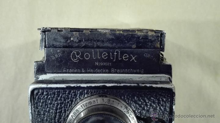 Cámara de fotos: ANTIGUA CÁMARA FOTOGRÁFICA ROLLEIFLEX I CARL ZEISS F 3,8-75 (1929-32) - Foto 4 - 52959893