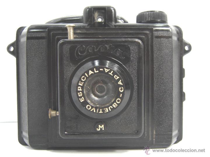 Cámara de fotos: ANTIGUA CAMARA BAQUELITA - CAPTA JM - AÑO 1940 - OBJETIVO ESPECIAL CAPTA - - Foto 2 - 53360542