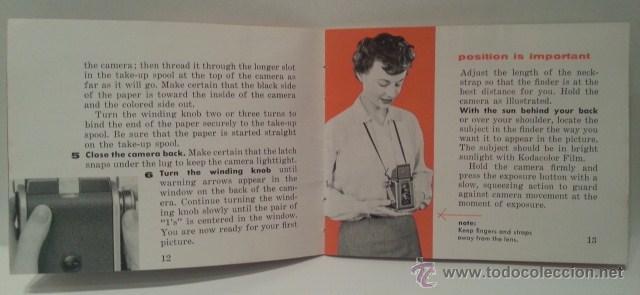 Cámara de fotos: ANTIGUA KODAK DUAFLEX IV OUTFIT DE 1955 CON FLASH, CAJA, 8 LÁMPARAS Y MANUAL ORIGINALES - Foto 32 - 53503789