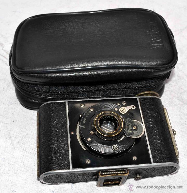 Cámara de fotos: PEQUEÑA ANTIGUA CAMARA,FUELLE, 127 FILM..KOCHMANN KORELLE+..ALEMANIA 1933..MUY BUEN ESTADO..FUNCIONA - Foto 2 - 53680458