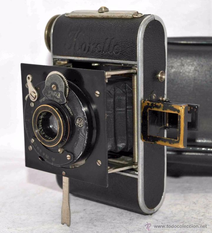 Cámara de fotos: PEQUEÑA ANTIGUA CAMARA,FUELLE, 127 FILM..KOCHMANN KORELLE+..ALEMANIA 1933..MUY BUEN ESTADO..FUNCIONA - Foto 4 - 53680458