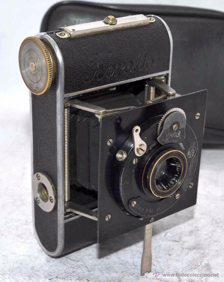 Cámara de fotos: PEQUEÑA ANTIGUA CAMARA,FUELLE, 127 FILM..KOCHMANN KORELLE+..ALEMANIA 1933..MUY BUEN ESTADO..FUNCIONA - Foto 7 - 53680458