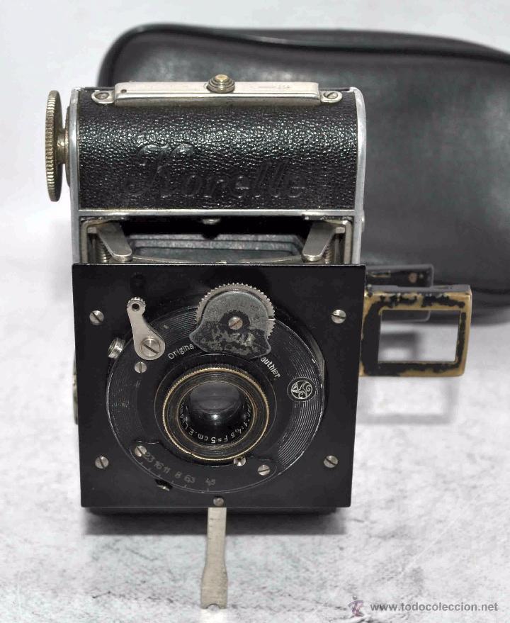Cámara de fotos: PEQUEÑA ANTIGUA CAMARA,FUELLE, 127 FILM..KOCHMANN KORELLE+..ALEMANIA 1933..MUY BUEN ESTADO..FUNCIONA - Foto 8 - 53680458