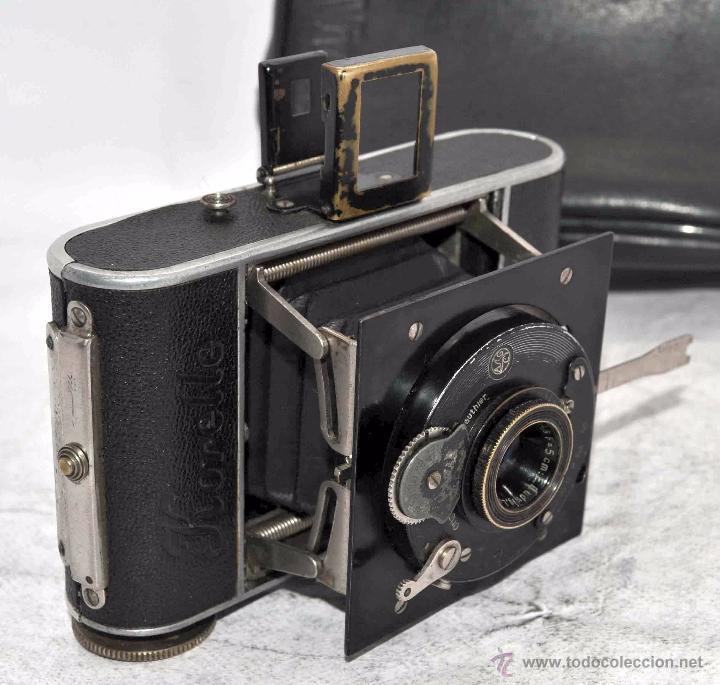 Cámara de fotos: PEQUEÑA ANTIGUA CAMARA,FUELLE, 127 FILM..KOCHMANN KORELLE+..ALEMANIA 1933..MUY BUEN ESTADO..FUNCIONA - Foto 10 - 53680458