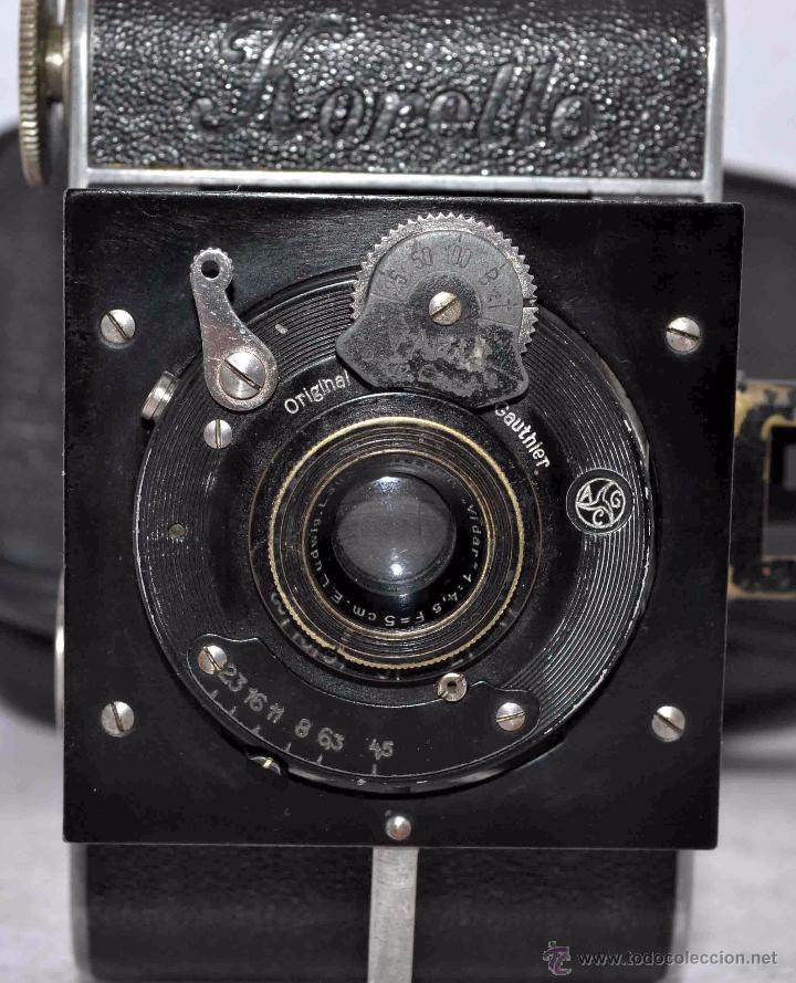 Cámara de fotos: PEQUEÑA ANTIGUA CAMARA,FUELLE, 127 FILM..KOCHMANN KORELLE+..ALEMANIA 1933..MUY BUEN ESTADO..FUNCIONA - Foto 13 - 53680458