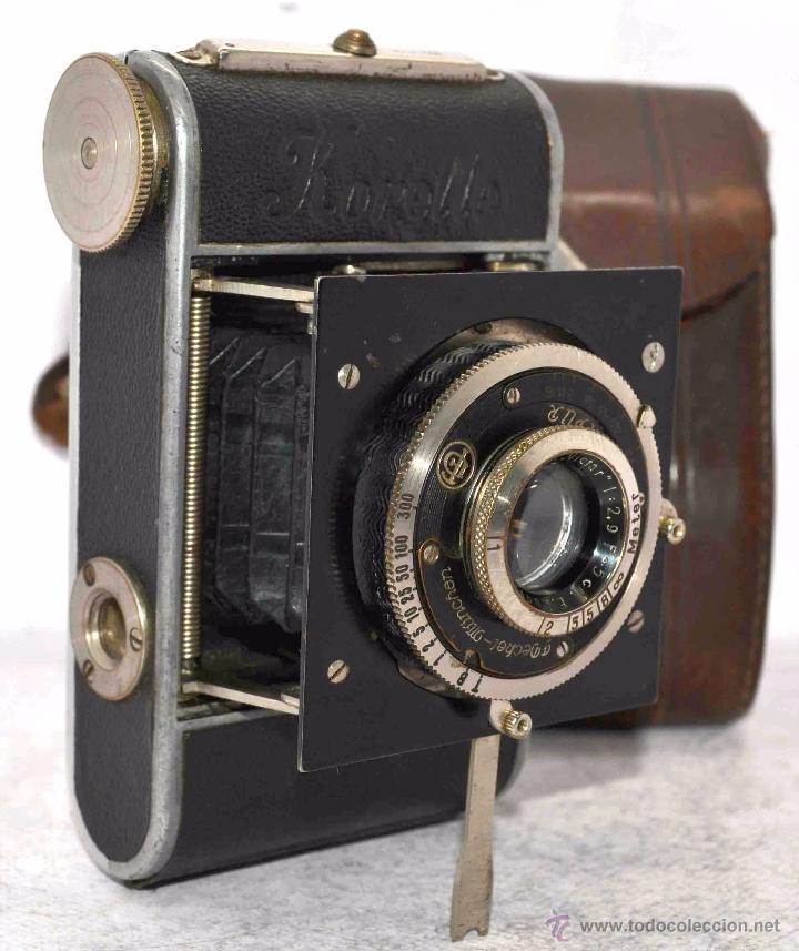 Cámara de fotos: PEQUEÑA, HISTORICA.FUELLE Y 127 FILM..KOCHMANN KORELLE+FUNDA.ALEMANIA 1933.MUY BUEN ESTADO..FUNCIONA - Foto 3 - 53812961