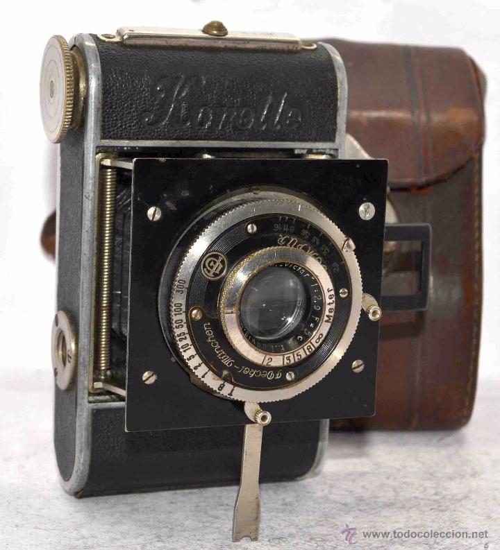 Cámara de fotos: PEQUEÑA, HISTORICA.FUELLE Y 127 FILM..KOCHMANN KORELLE+FUNDA.ALEMANIA 1933.MUY BUEN ESTADO..FUNCIONA - Foto 4 - 53812961