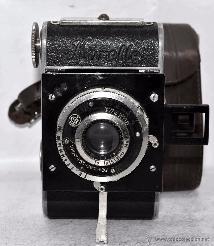 Cámara de fotos: PEQUEÑA, HISTORICA.FUELLE Y 127 FILM..KOCHMANN KORELLE+FUNDA.ALEMANIA 1933.MUY BUEN ESTADO..FUNCIONA - Foto 5 - 53812961