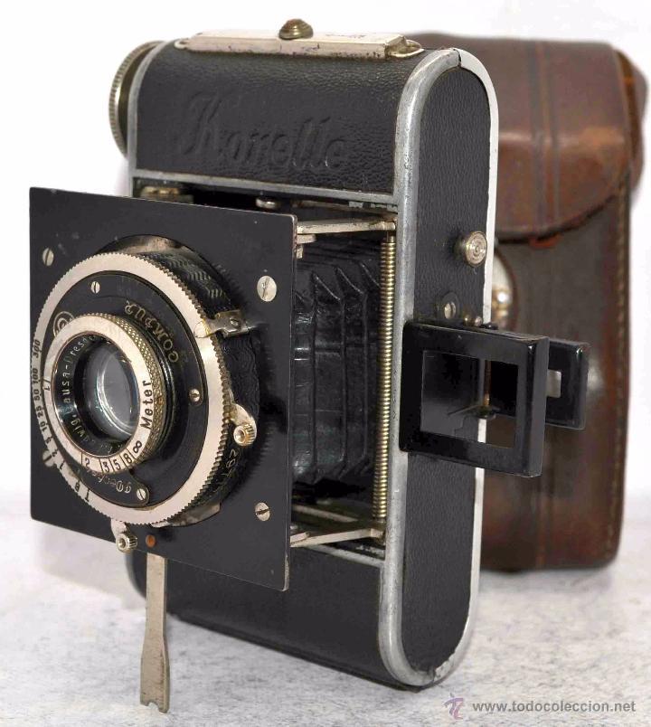 Cámara de fotos: PEQUEÑA, HISTORICA.FUELLE Y 127 FILM..KOCHMANN KORELLE+FUNDA.ALEMANIA 1933.MUY BUEN ESTADO..FUNCIONA - Foto 8 - 53812961