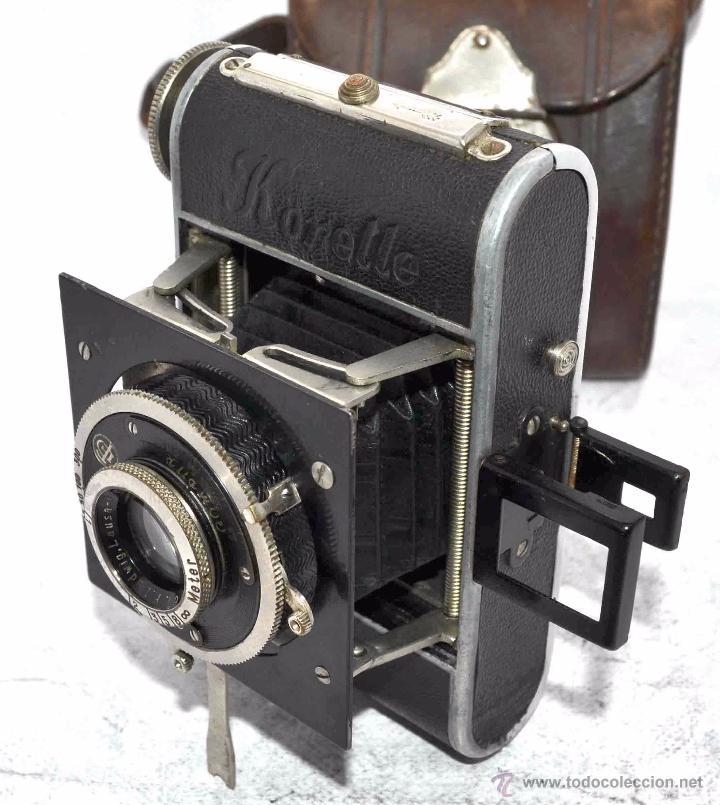 Cámara de fotos: PEQUEÑA, HISTORICA.FUELLE Y 127 FILM..KOCHMANN KORELLE+FUNDA.ALEMANIA 1933.MUY BUEN ESTADO..FUNCIONA - Foto 11 - 53812961