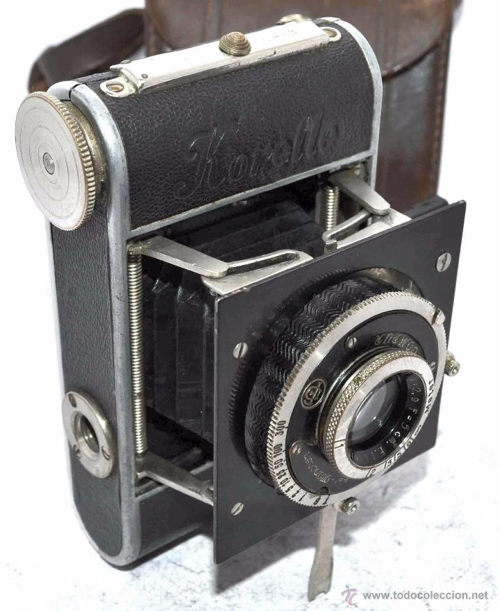 Cámara de fotos: PEQUEÑA, HISTORICA.FUELLE Y 127 FILM..KOCHMANN KORELLE+FUNDA.ALEMANIA 1933.MUY BUEN ESTADO..FUNCIONA - Foto 12 - 53812961