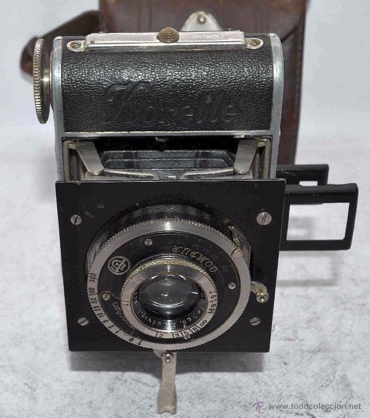 Cámara de fotos: PEQUEÑA, HISTORICA.FUELLE Y 127 FILM..KOCHMANN KORELLE+FUNDA.ALEMANIA 1933.MUY BUEN ESTADO..FUNCIONA - Foto 13 - 53812961