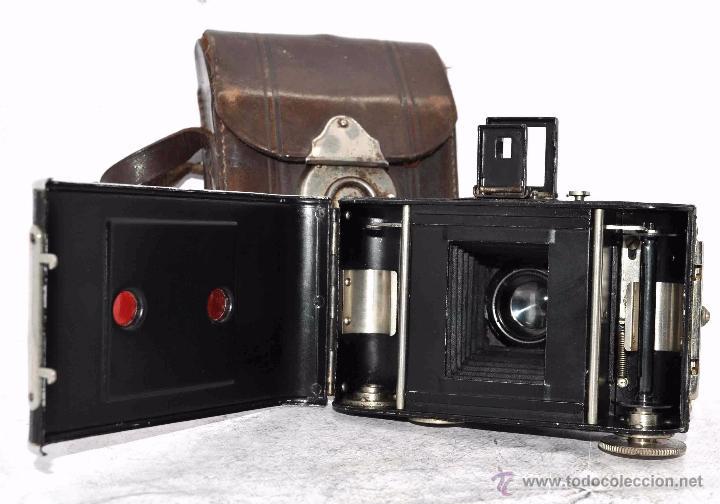 Cámara de fotos: PEQUEÑA, HISTORICA.FUELLE Y 127 FILM..KOCHMANN KORELLE+FUNDA.ALEMANIA 1933.MUY BUEN ESTADO..FUNCIONA - Foto 24 - 53812961