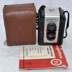 Cámara de fotos: BELLA PSEUDO TLR, BAQUELITA..ARGUS ARGOFLEX 75+FUNDA+INSTRUC..USA 1949..MUY BUEN ESTADO..FUNCIONA.. Lote 54066480