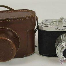 Cámara de fotos: CAMARA FOTOGRAFICA KING KG. MODELO IP. CON FUNDA DE CUERO. 1950.. Lote 148897986