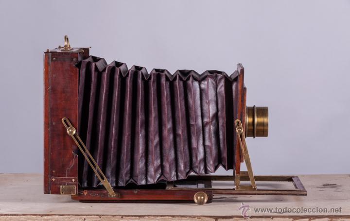 Cámara de fotos: Cámara fotográfica de fuelle, de madera de caoba - Foto 2 - 54969111