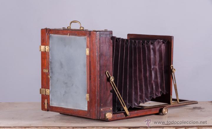Cámara de fotos: Cámara fotográfica de fuelle, de madera de caoba - Foto 3 - 54969111