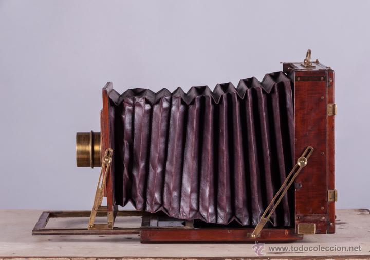 Cámara de fotos: Cámara fotográfica de fuelle, de madera de caoba - Foto 5 - 54969111