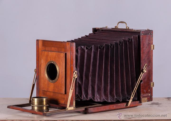 Cámara de fotos: Cámara fotográfica de fuelle, de madera de caoba - Foto 6 - 54969111