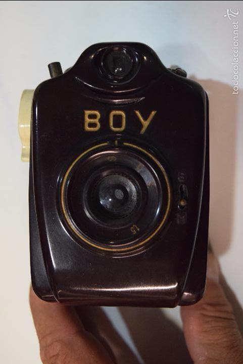 BILORA BOY..ALEMANIA MINIATURA,10CM,..BAQUELITA ..127 FILM..1950.ESPECIAL SERIE MARRÓN (Cámaras Fotográficas - Antiguas (hasta 1950))