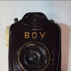 Cámara de fotos: BILORA BOY..ALEMANIA MINIATURA,10CM,..BAQUELITA ..127 FILM..1950.ESPECIAL SERIE MARRÓN. Lote 55900506