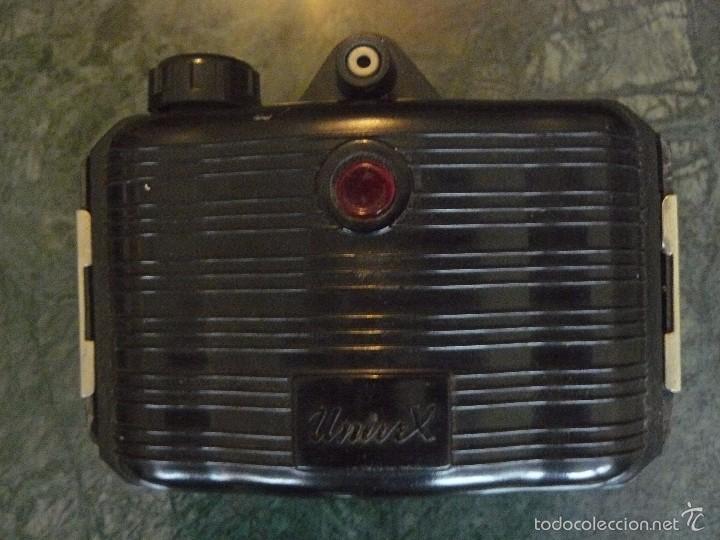 Cámara de fotos: Máquina fotográfica Univex, formato 4,5 x 6 cm, para colección o decoración, en baquelita negra - Foto 4 - 56272956