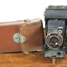 Cámara de fotos: CAMARA FOTOGRAFICA DE FUELLE. WIRGIN PRESTO. FUNDA ORIGINAL. 1930.. Lote 180098028