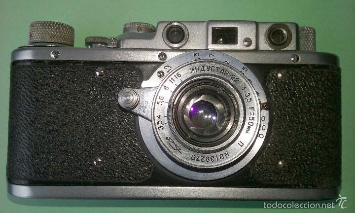 Cámara de fotos: CAMARA FOTOGRÁFICA ANTIGUA ZORKI 1. RUSA TIPO LEICA II. OBJETIVO 1:3,5 F=50 mm - Foto 2 - 56719227