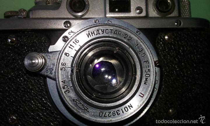 Cámara de fotos: CAMARA FOTOGRÁFICA ANTIGUA ZORKI 1. RUSA TIPO LEICA II. OBJETIVO 1:3,5 F=50 mm - Foto 3 - 56719227