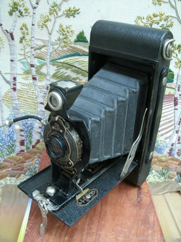 ANTIGUA CAMARA DE FUELLE 1918 KODAK BROWNIE CANARA AUTOGRAPHIC NO2A FOLDING CAMERA PERFECTA 143.00 E (Cámaras Fotográficas - Antiguas (hasta 1950))