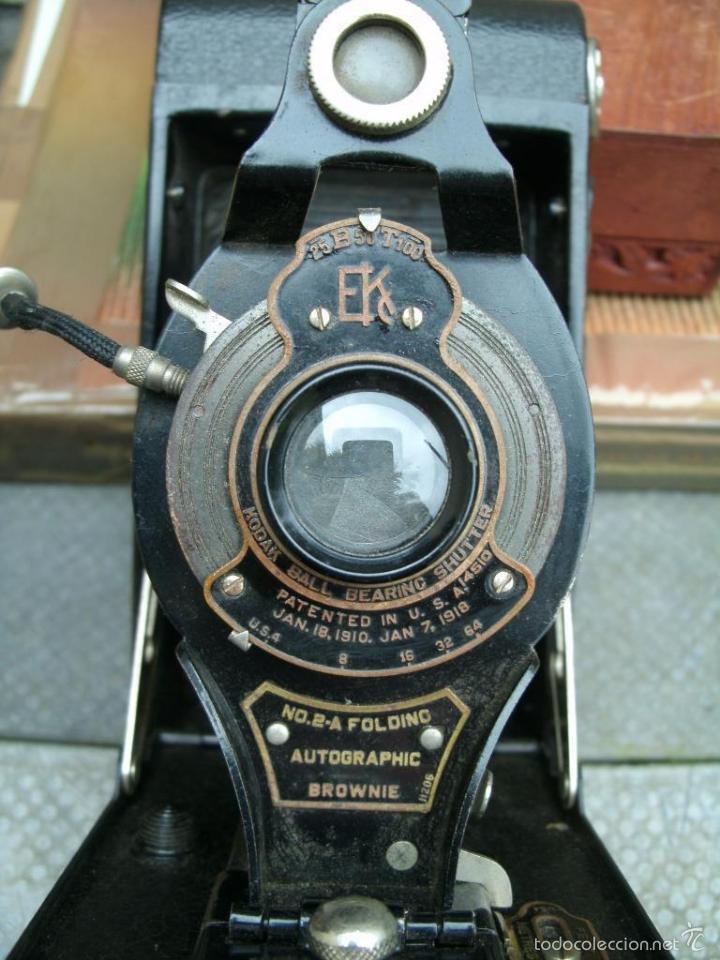 Cámara de fotos: ANTIGUA CAMARA DE FUELLE 1918 KODAK BROWNIE CANARA AUTOGRAPHIC No2a FOLDING CAMERA PERFECTA 143.00 E - Foto 6 - 57584805