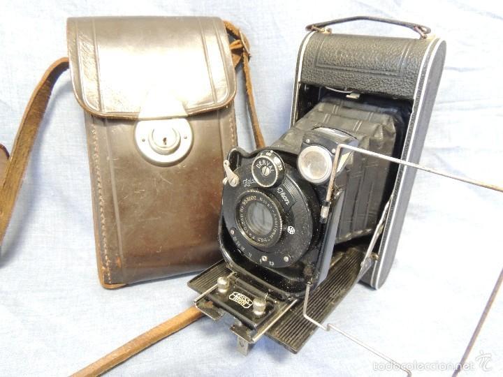 ZEISS IKON DERVAL 6X9 GRAN FORMATO CON ESTUCHE DE PIEL ORIGINAL (Cámaras Fotográficas - Antiguas (hasta 1950))