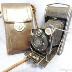 Cámara de fotos: ZEISS IKON DERVAL 6X9 GRAN FORMATO CON ESTUCHE DE PIEL ORIGINAL. Lote 87623788