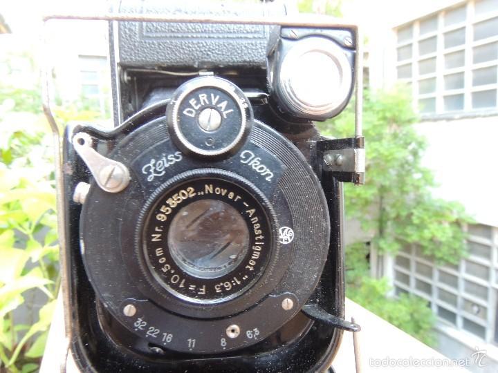 Cámara de fotos: ZEISS IKON DERVAL 6X9 GRAN FORMATO CON ESTUCHE DE PIEL ORIGINAL - Foto 4 - 119194346