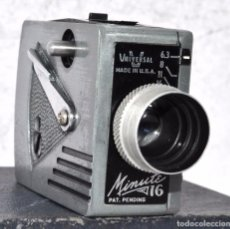 Cámara de fotos: CAMARA ANTIGUA EN MINIATURA..UNIVERSAL MINUTE 16+ CAJA..USA 1949..MUY BUEN ESTADO..FUNCIONA.... Lote 61396815
