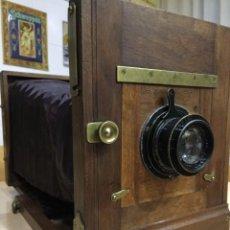 Cámara de fotos: CAMARA DE MADERA, FUELLE Y PLACAS. Lote 64071715