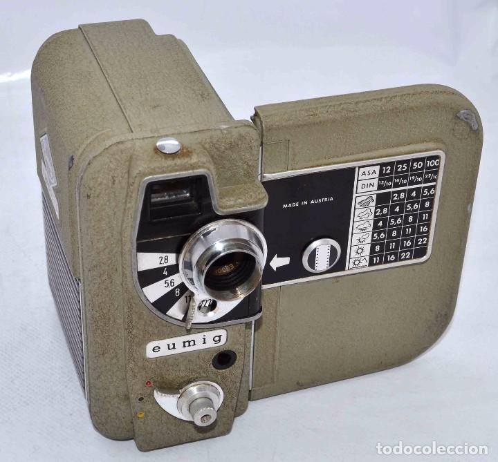 BONITA Y RARA CAMARA DE CINE A PILAS..EUMIG ELECTRIC..AUSTRIA 1955..MUY BUEN ESTADO..FUNCIONA (Cámaras Fotográficas - Antiguas (hasta 1950))