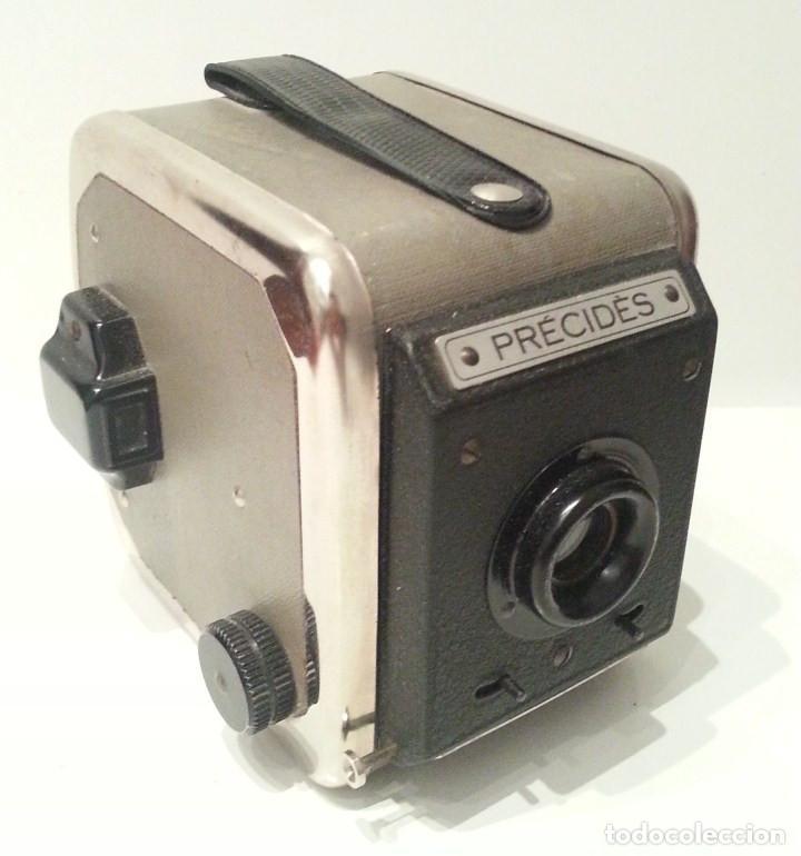 Cámara de fotos: ANTIGUA Y RARA CÁMARA FRANCESA PRÉCIDÈS DE 1950. PRECIDES CAMERA FORMATO 6X9 - Foto 2 - 67043546