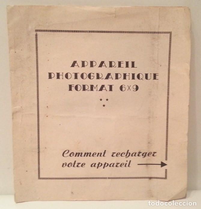 Cámara de fotos: ANTIGUA Y RARA CÁMARA FRANCESA PRÉCIDÈS DE 1950. PRECIDES CAMERA FORMATO 6X9 - Foto 24 - 67043546