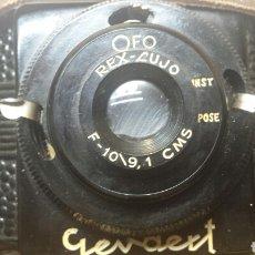 Cámara de fotos: CAMARA ANTIGUA GEVAERT REX LUJO CON FUNDA DE CUERO ORIGINAL AÑO 1945. Lote 71554281