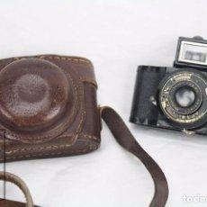 Cámara de fotos: ANTIGUA CÁMARA FOTOGRÁFICA EN MINIATURA - ELJY, LUMIERE - AÑOS 40-50 - FUNDA ORIGINAL DE ÉPOCA. Lote 74165943