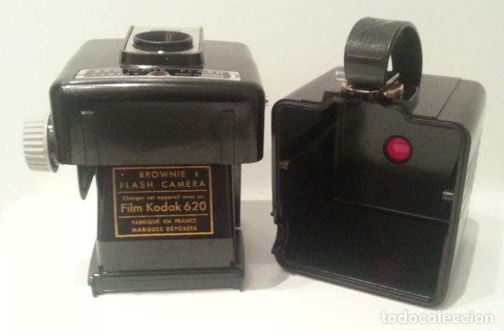 Cámara de fotos: ANTIGUA KODAK BROWNIE FLASH, RARA VARIANTE FRANCESA DE LA HAWKEYE DE 1950 + CAJA, FLASH Y MANUAL - Foto 26 - 76728051