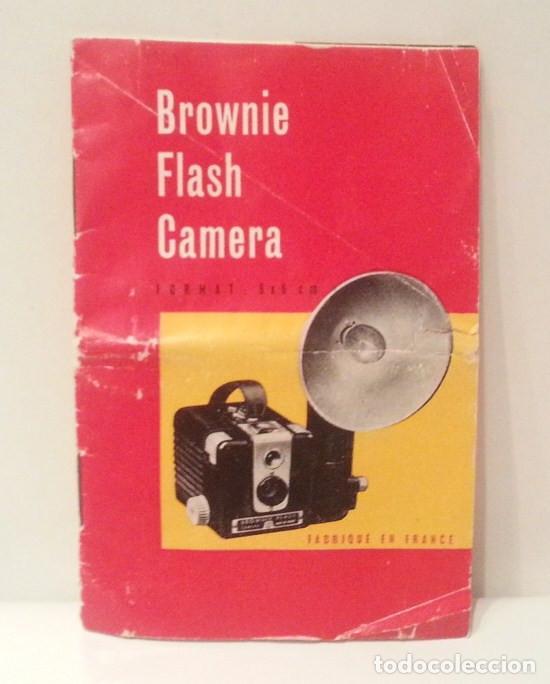 Cámara de fotos: ANTIGUA KODAK BROWNIE FLASH, RARA VARIANTE FRANCESA DE LA HAWKEYE DE 1950 + CAJA, FLASH Y MANUAL - Foto 31 - 76728051