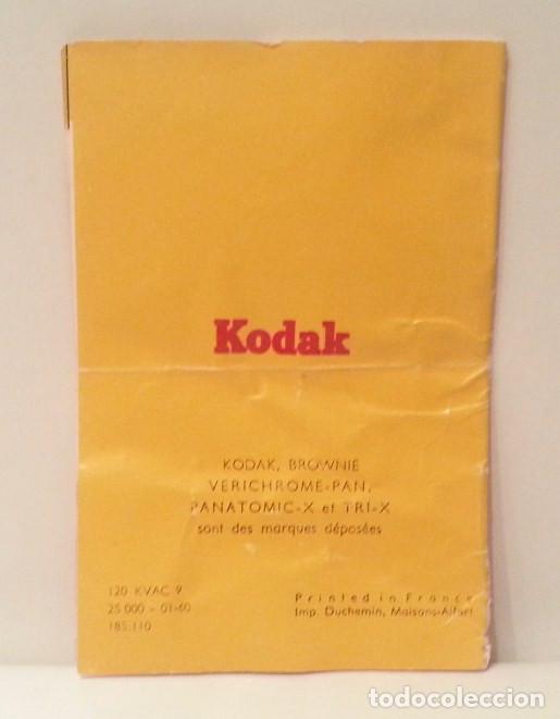 Cámara de fotos: ANTIGUA KODAK BROWNIE FLASH, RARA VARIANTE FRANCESA DE LA HAWKEYE DE 1950 + CAJA, FLASH Y MANUAL - Foto 32 - 76728051