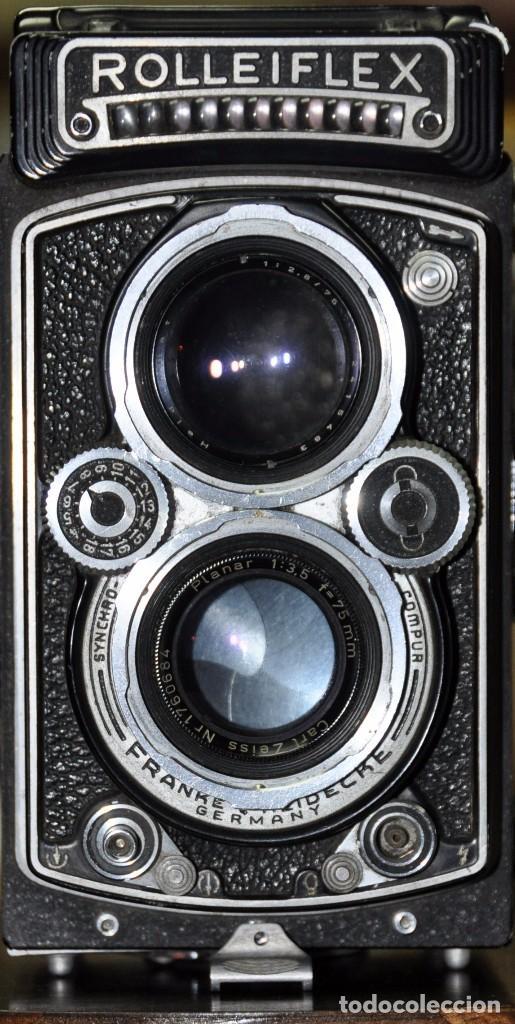 Cámara de fotos: antigua camara de fotos alemana rolleiflex 3,5 - Foto 2 - 77371825