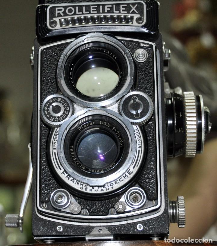 Cámara de fotos: antigua camara de fotos alemana rolleiflex 3,5 - Foto 10 - 77371825