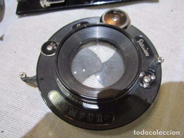 Cámara de fotos: Antigua cámara de fotos de fuelle, con placas, marca ICA. Para restaurar. Placas medida 19 X 11 cm. - Foto 4 - 77408893