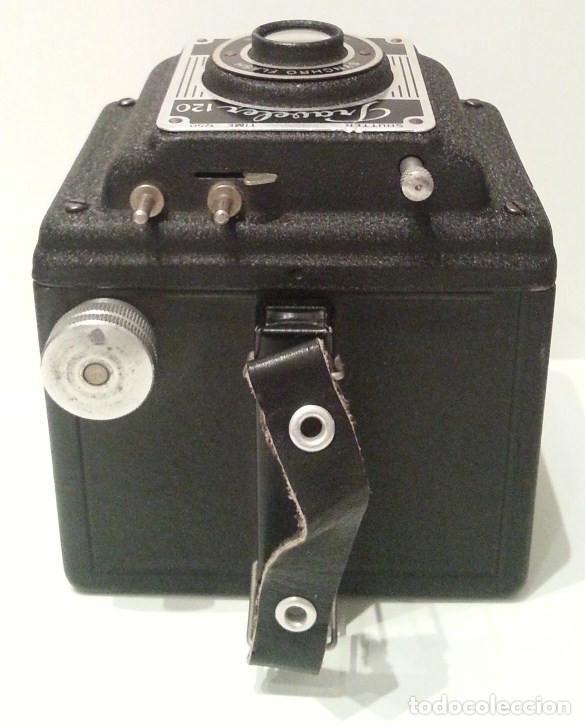 Cámara de fotos: RARA CÁMARA TRAVELER FLASH DE LA PHO-TAK CORPORATION. 15 ENERO 1953. METAL PRENSADO MOLDEADO - Foto 11 - 77561545