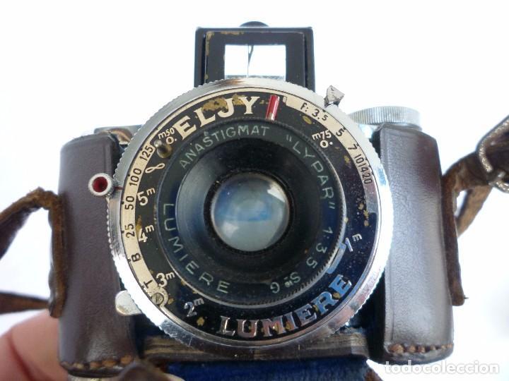 Cámara de fotos: Cámara Fotográfica en Miniatura - Eljy, Lumiere - Años 40-50 - Funda Original Y Disparador ORIGINAL - Foto 2 - 84176172